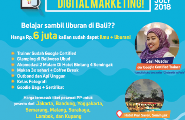 Explore Indonesia - Fun Learning: Belajar Digital Marketing sambil Liburan di Bali 4H3M | Bali, Indonesia