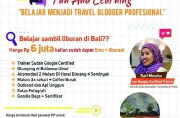 belajar menjadi travel blogger - YOEXPLORE.co.id